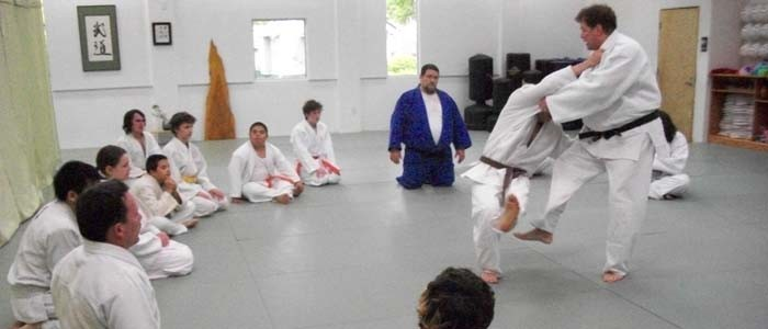 Judo class watching demo