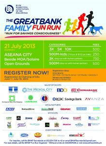 Great Bank Family Fun Run 2013