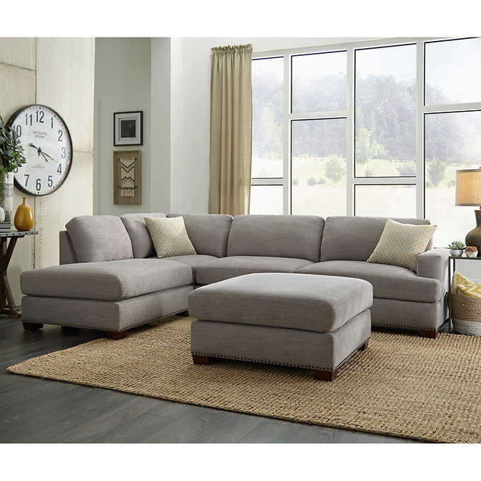 bainbridge sinclair fabric sectional with ottoman