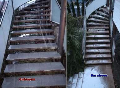 rozmrazovanie schodov a bez rozmrazovania