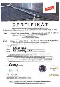 certifikát DEHN ŽILA Bohuš