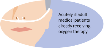 Person wearing oxygen delivery prongs