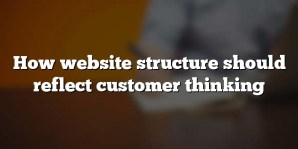 How website structure should reflect customer thinking