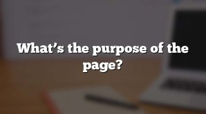 What's the purpose of the page?
