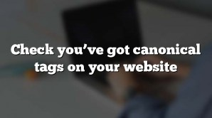 Check you've got canonical tags on your website