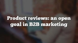 Product reviews: an open goal in B2B marketing