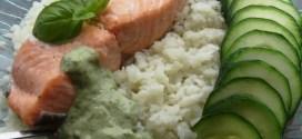 Truite saumonee et sa sauce au basilic Paleo