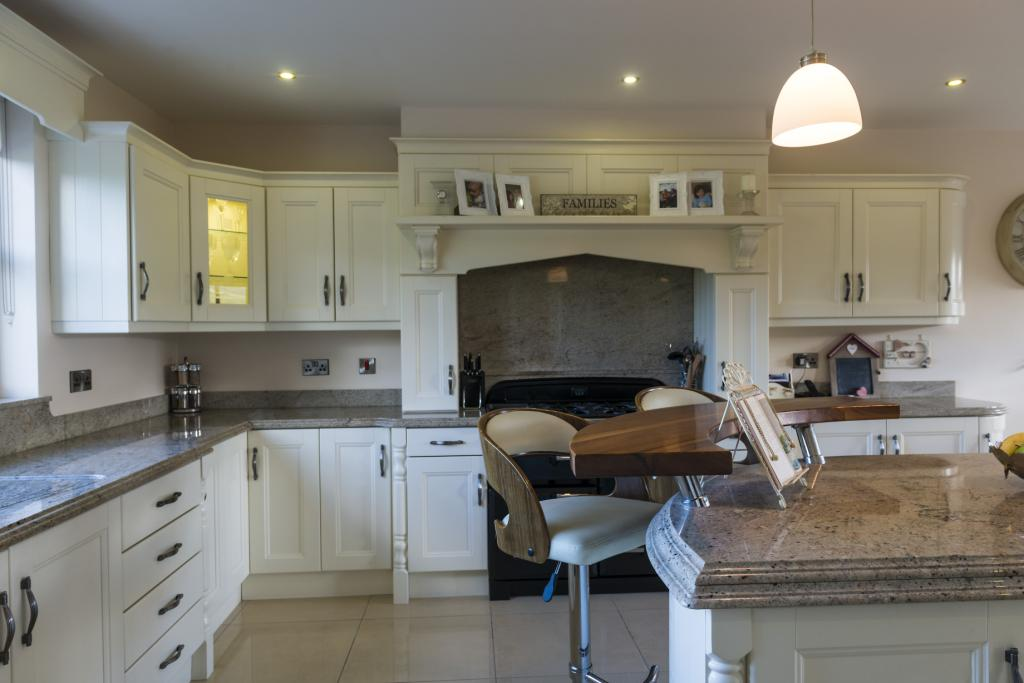 Kitchens Newry Ivory Kitchen With Granite Worktop