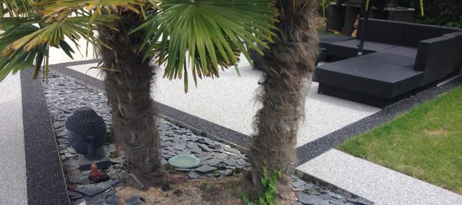 tapis de pierre pour une terrasse