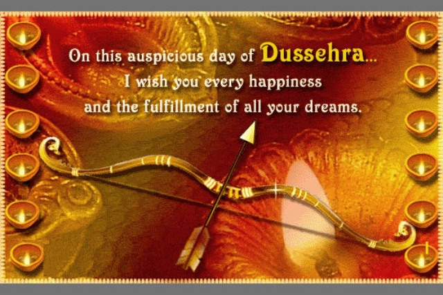 Dussehra celebrations 2014 facebook status whatsapp messages may goddess laxmi play on ur palms may goddess parvathi on ur heart may goddess durga on ur arms wish you a happy dussehra m4hsunfo