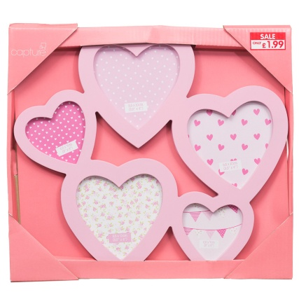277010 5pc Multi Heart Frame Pink Packaging