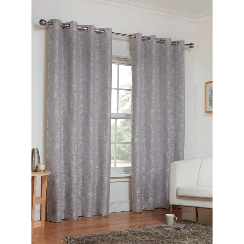 Dorchester Damask Fully Lined Curtains 66 X 72 Home BampM