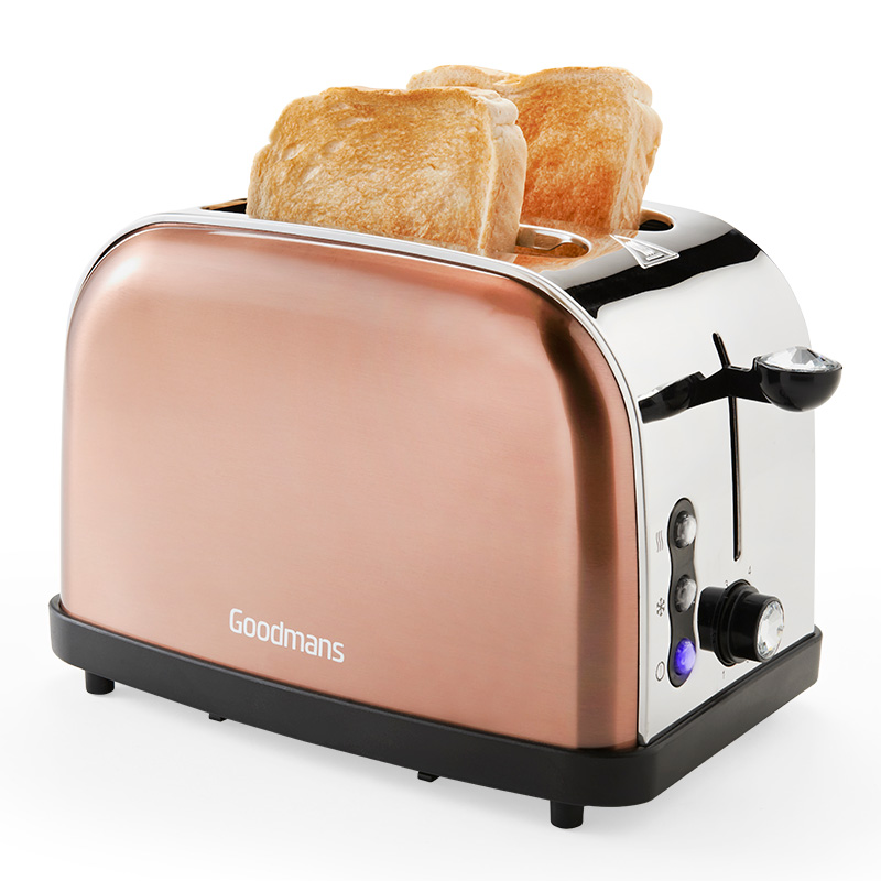 Goodmans 2 Slice Diamond Copper Toaster Kitchen BampM