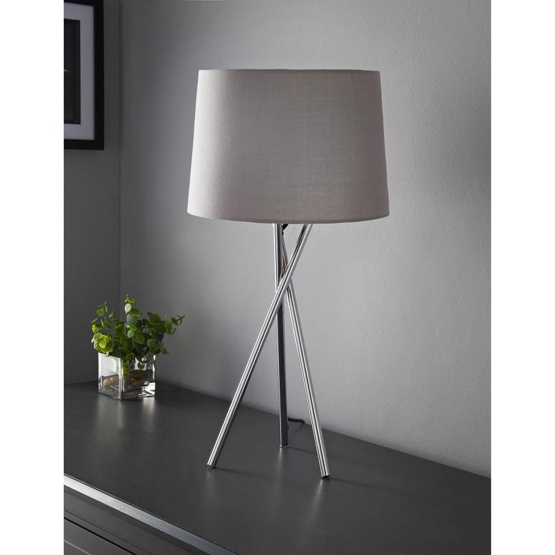 Tripod Table Lamp Grey Lighting B M