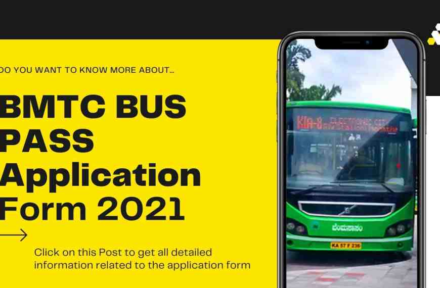 BMTC Bus Pass Application Form for Students 2021 [Updated Information]