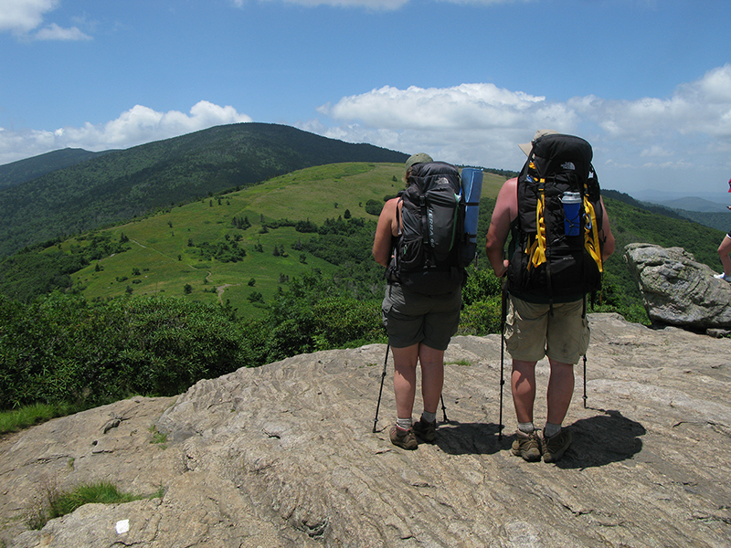 hikers-with-mountain-view