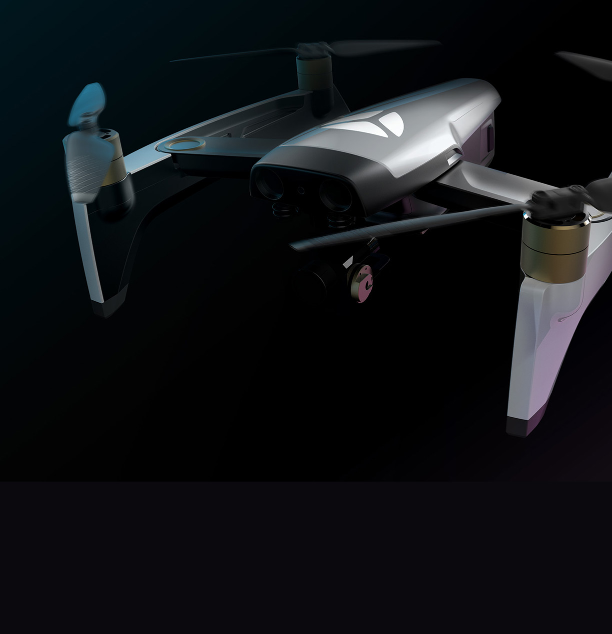 yuneec drone from the front