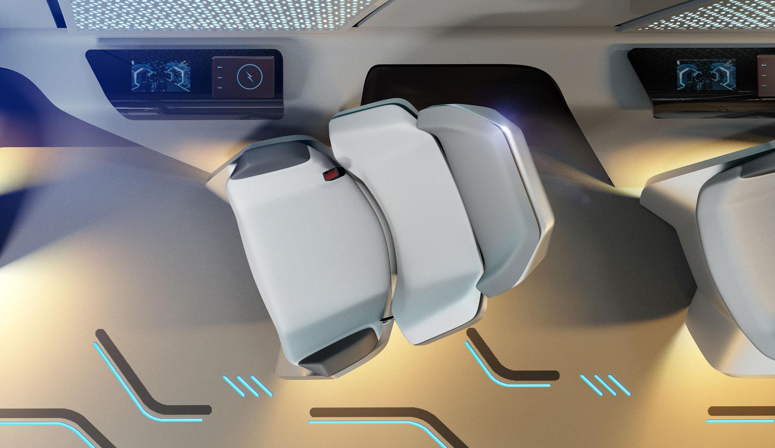 hyperloop seat from the top