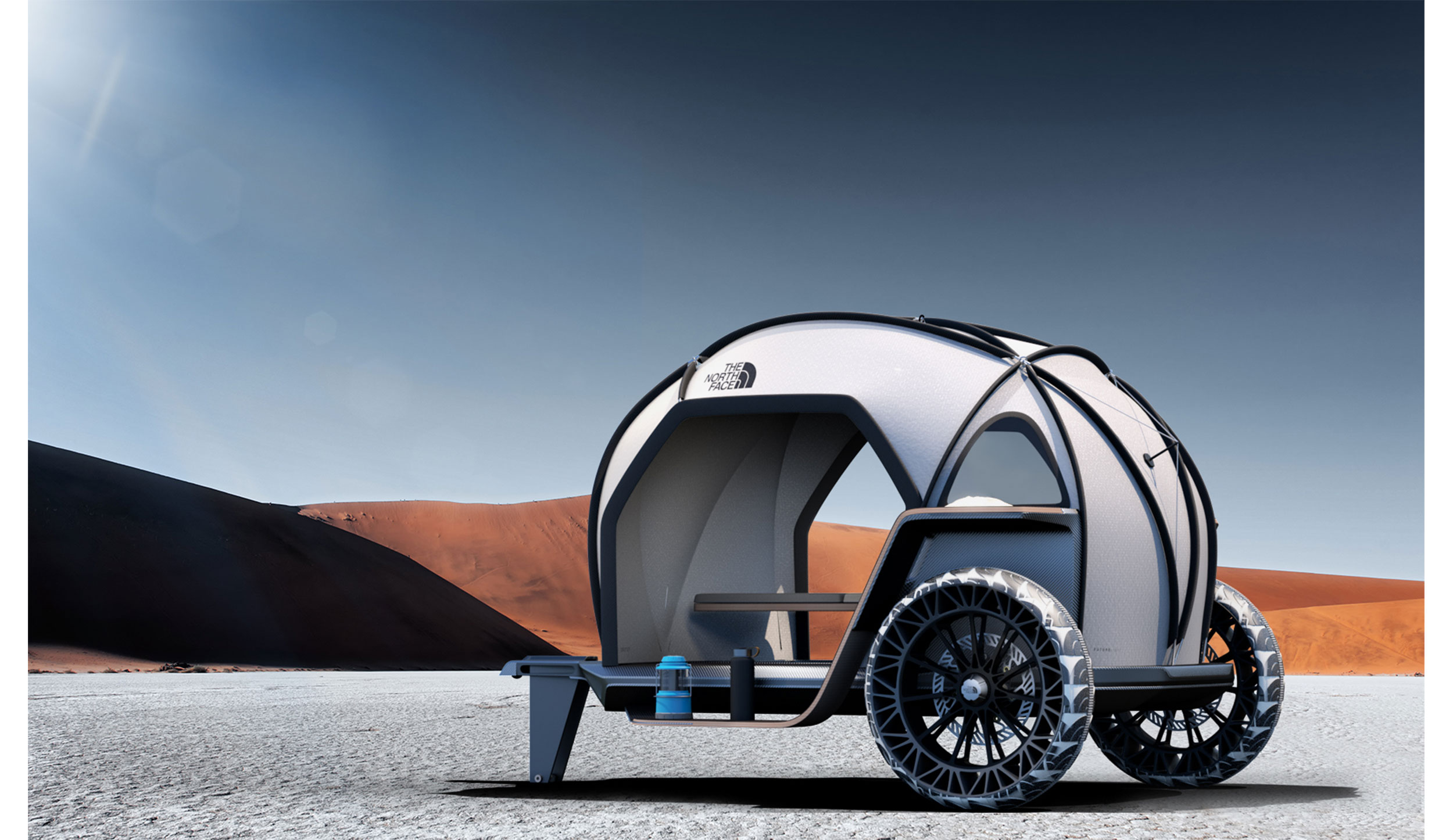 the north face camper in death valley
