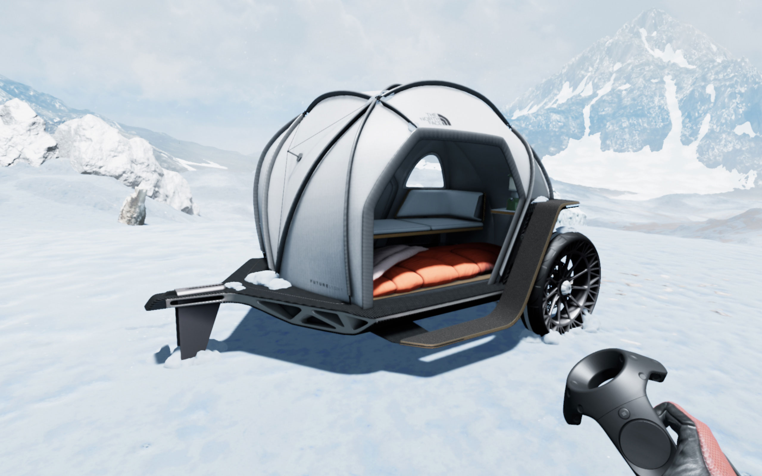virtual reality of the north face camper