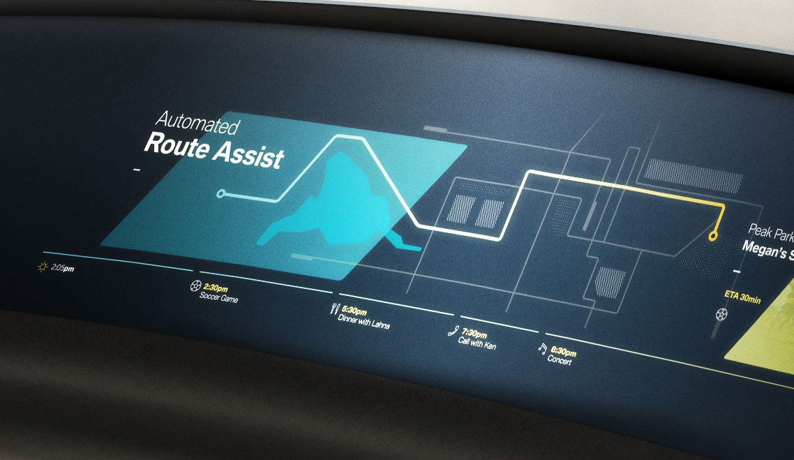 inside future route assist interior