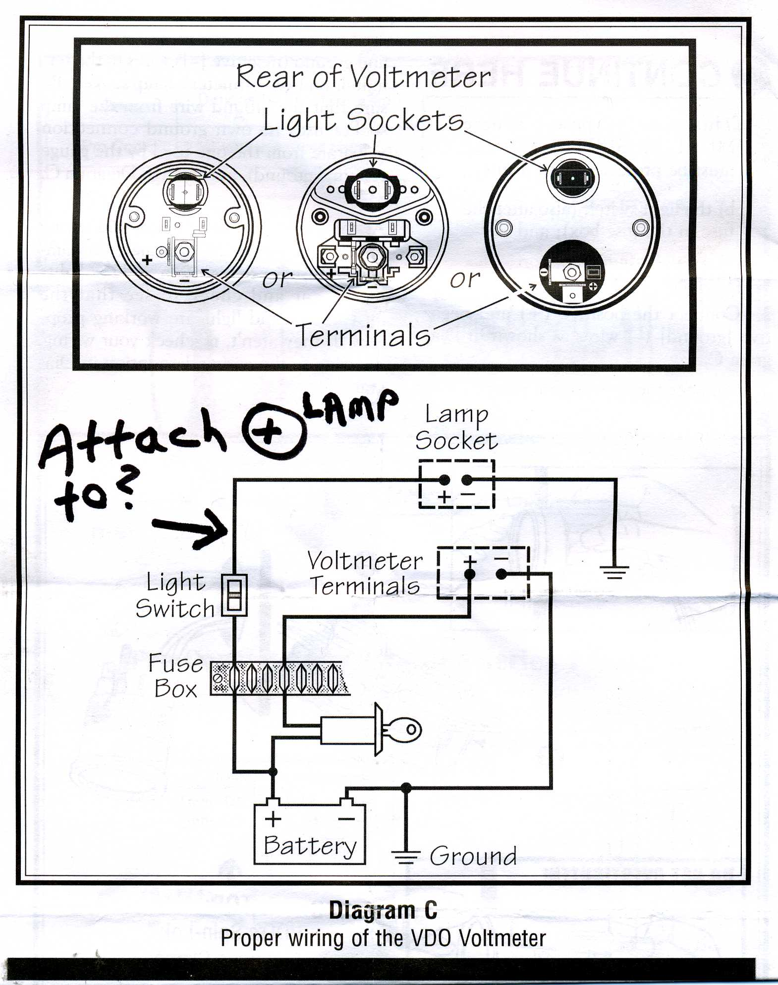 Vdo Volt Gauge Wiring Diagram