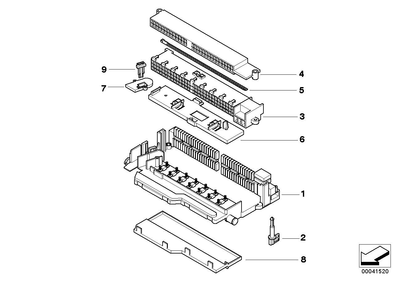 Bmw X3 2 5i E83 Single Components For Fuse Box