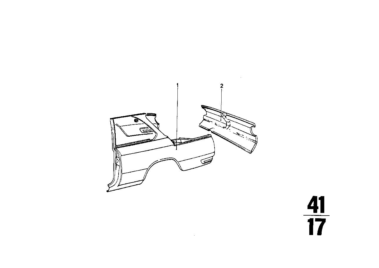 Bmw Rear Side Panel
