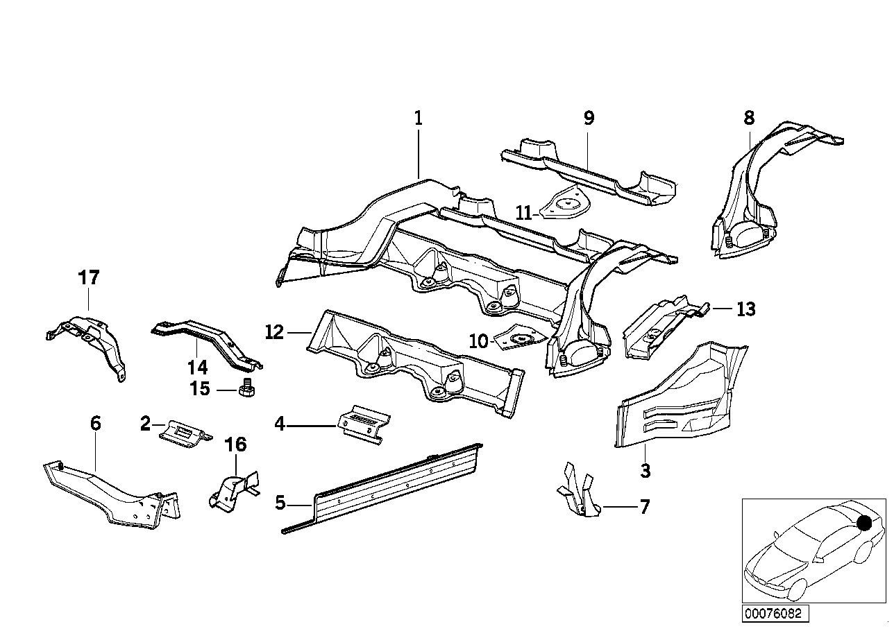 Bmw 325is Coupe E36 Rear Floor Parts