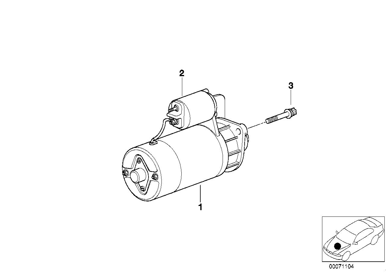Bmw 325ci Coupe M54 Engine E46 Starter