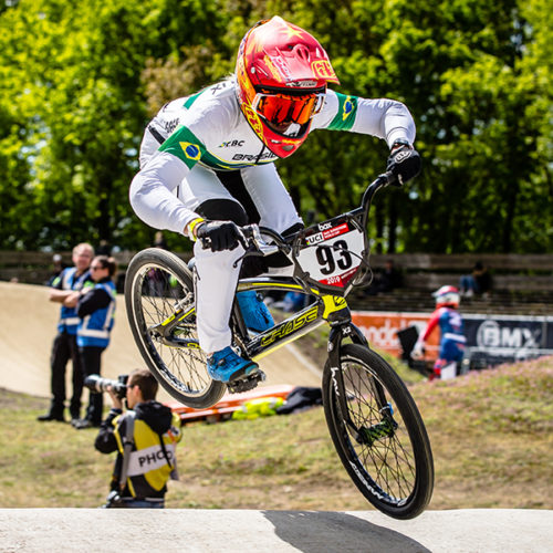 #93 (STEVAUX CARNAVAL Priscilla Andreia) BRA at Round 4 of the 2019 UCI BMX Supercross World Cup in Papendal, The Netherlands