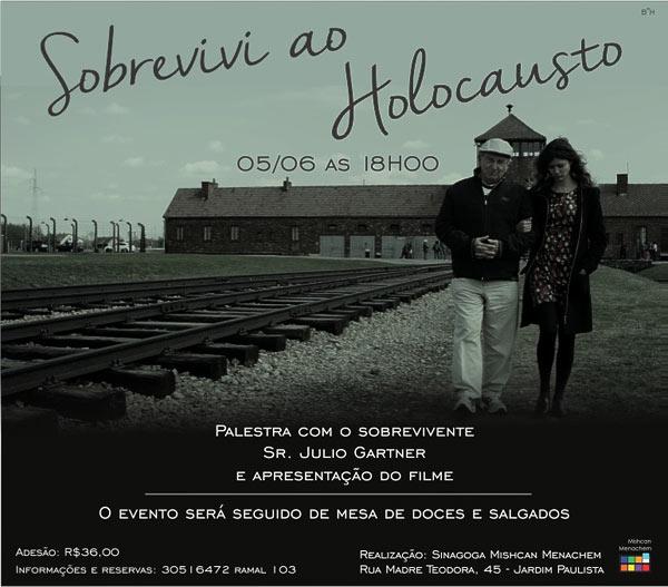 Palestra e apresentação de filme com Julio Gartner