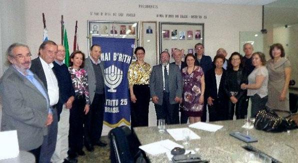 B'nai B'rith recebe cônsul geral de Israel em São Paulo Yoel Barnea e esposa