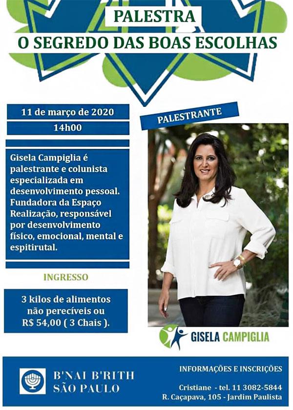 """O segredo das boas escolhas"""", com Gisela Campiglia"""