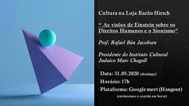 A Loja Barão Hirsch, de POA, convida para um bate papo com Rafael Ban Jacobsen
