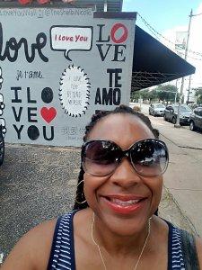 """I love you"" wall art in Houston, TX"