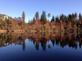 Der Crestasee im Herbst