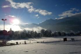 Der verschneite Laaxer See