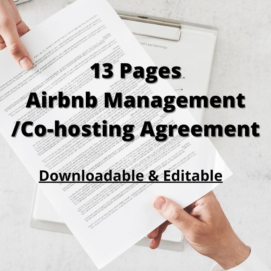Airbnb Management Contract/Co-hosting Agreement