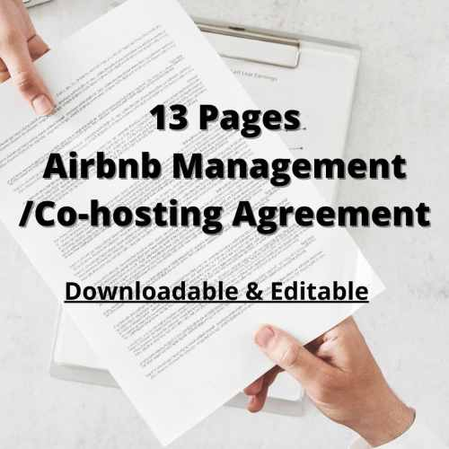 Airbnb Property Management Contract Template