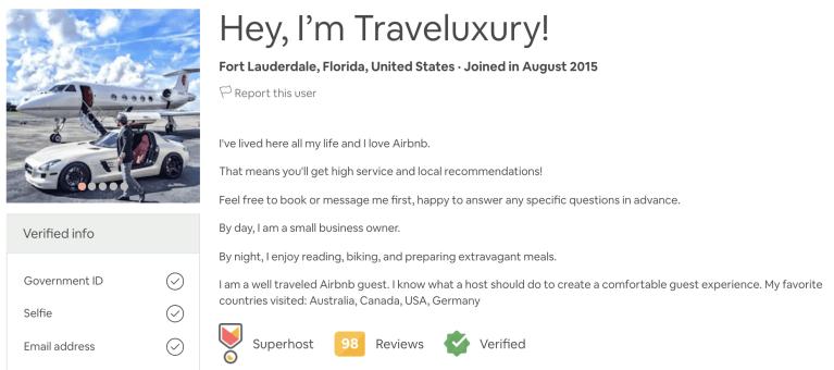 Airbnb Describe Yourself Example -4