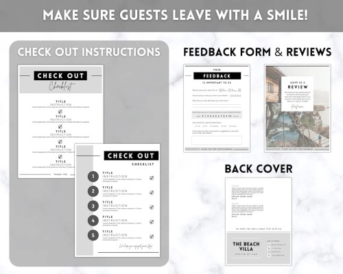 Airbnb welcome book feedback form