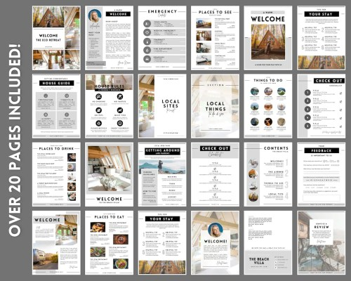 Airbnb welcome book Pages