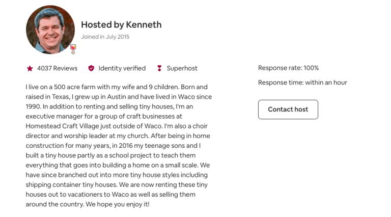 Airbnb Describe Yourself Example -13