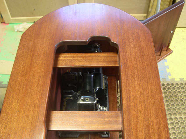 View into Cabinet Machine Inside