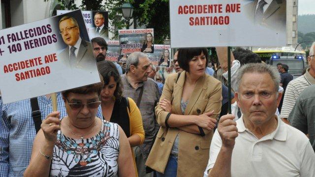 Manifestación vítimas Angrois