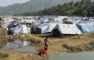 Fire broke out at Arakan Muslim refugee camp
