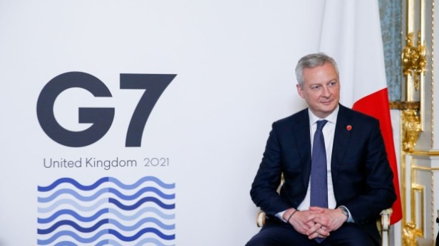 Bruno Le Maire, France's finance minister, attends the first day of the Group of Seven Finance Ministers summit in London, U.K., on Friday, June 4, 2021. U.K. Chancellor Rishi Sunak will host G-7 finance ministers and central bank chiefs, ahead of the main summit next week.