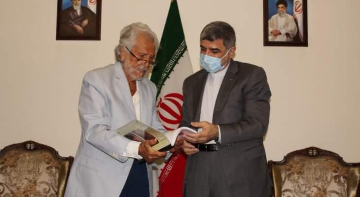 زاهر الخطيب زار السفارة الإيرانية مهنئا بنتائج الانتخابات وفوز رئيسي