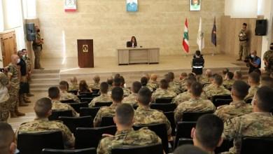 عكر زارت الكلية الحربية لمناسبة الاول من آب: للتمسك بمبادىء الجيش لأنها السبيل الوحيد لحماية الوطن